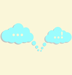 communication clouds vector image