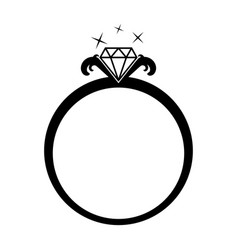diamond jewelery ring vector image
