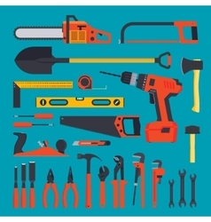 Hardware tools set vector image