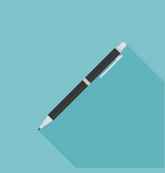 pen or pencil icon with long shadow vector image