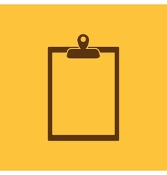 The clipboard icon Paperwork symbol Flat vector image