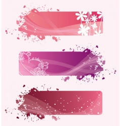 banners valentine vector image