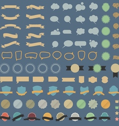 Big set of design elements and speech bubblesin vector image