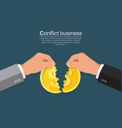 Conflict in business vector