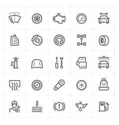 mini icon set - garage and auto part icon vector image