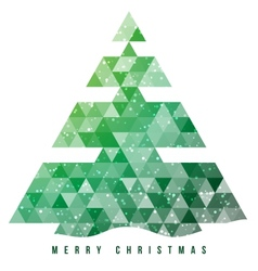 Christmas tree and decorations background vector image
