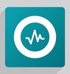 flat pulse icon vector image
