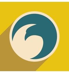 logo flying eagle vector image