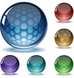 spheres set vector image vector image