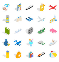 expensive toy icons set isometric style vector image