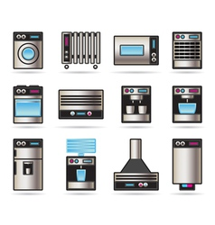 Household Appliances icons set vector image vector image