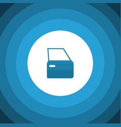 Isolated door flat icon automobile part vector
