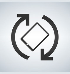 mobile or tablet screen rotation icon phone vector image