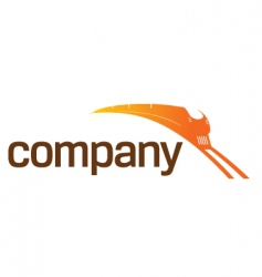 train transportation logo vector image vector image