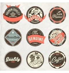 vintage design retro labels vector image