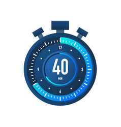 40 minutes stopwatch icon stopwatch vector