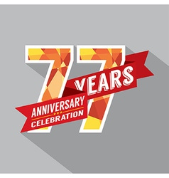 77th Years Anniversary Celebration Design vector