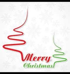 Abstract background Christmas tree with text vector