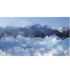 abstract irregular polygonal background mountains vector image