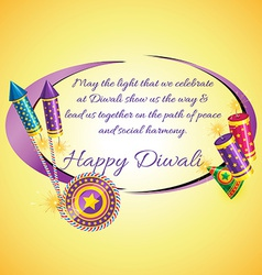 Attractive diwali card vector image
