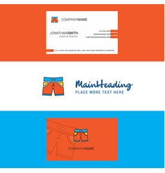 beautiful shorts logo and business card vertical vector image