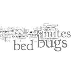 Bed bugs mites spray vector