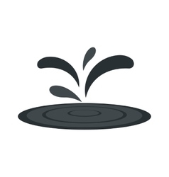 Black oil spill flat icon vector