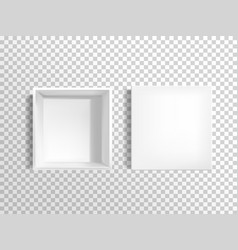 blank white empty shoebox with lid vector image