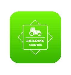 building agency icon green vector image