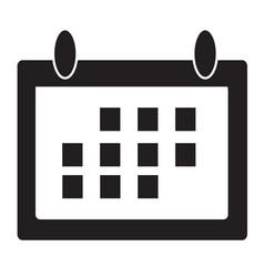 calendar icon flat design style vector image