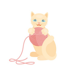 cat breed cute kitten red pet portrait fluffy vector image