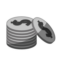 Coin pile icon image vector