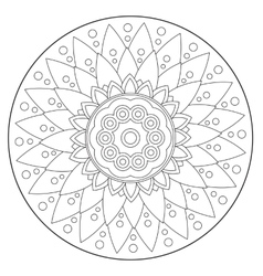 Coloring Geometric Floral Ornament vector