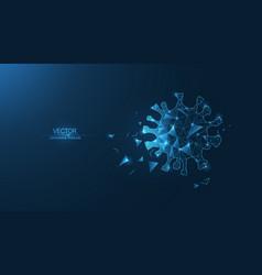 coronavirus molecule vector image
