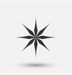 creative icon - snowflake decorative vector image