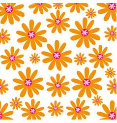 Cute flower pattern background vector