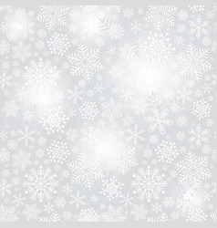 delicate silvery seamless christmas pattern vector image