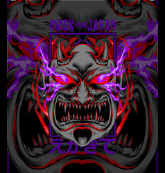 demon mask from japan vector image