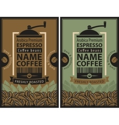 Design label for coffee beans vector