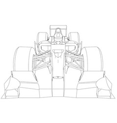 Formula race car abstract drawing tracing vector