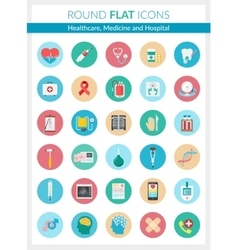 healthcare medicine and hospital icons vector image