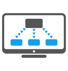 Hierarchy Monitoring Flat Symbol vector image