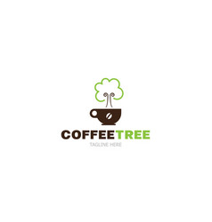 logo template coffee tree vector image