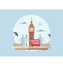 London city flat vector