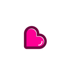 love letter b logo icon design vector image