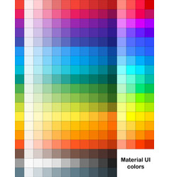 Material ui palette contain 273 fine colors vector