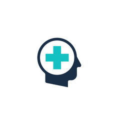 medical human head logo icon design vector image