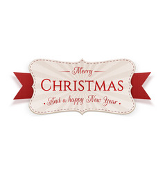 merry christmas emblem isolated on white vector image