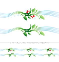 merry christmas seamless holiday vector image