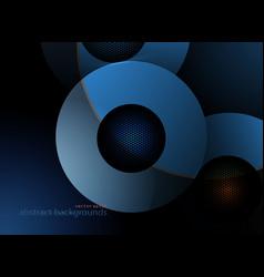 Metal blue colors circular shapes vector